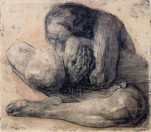 Woman with Dead Child Etching by Kollwitz, 1903