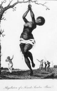Flagellation of a Female Samboe Slave (1796) by William Blake.  Citation: Wikimedia/Public domain